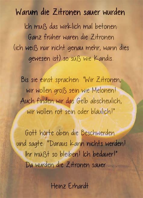 Heinz Erhardt Gedichte Herbst 5528 by Warum Die Zitronen Sauer Wurden Ein Gedicht Heinz