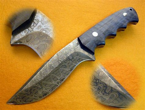 custom made mike norris damascus drop point hunter by cote