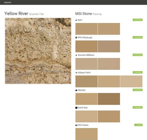 yellow river granite tile flooring msi behr ppg pittsburgh sherwin williams valspar