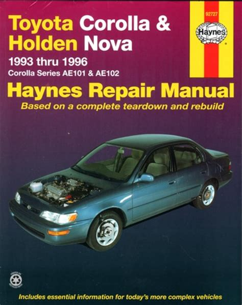 vehicle repair manual 2010 toyota corolla free book repair manuals toyota corolla holden nova 1993 1996 haynes service repair manual sagin workshop car manuals