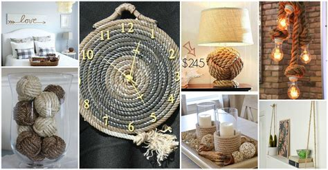 decorative home decor brilliant rope decor ideas that will leave you speechless