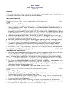 Systems Engineer Resume Sle by Cobol Programmer Resume Sales Programmer Lewesmr