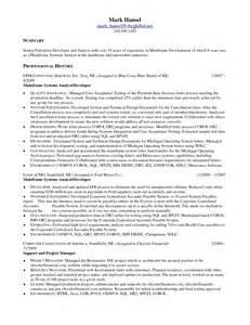 senior programmer analyst resume senior programmer analyst resume
