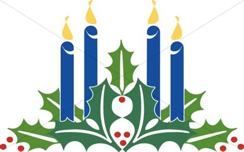 blue christmas service outline advent candles clipart advent clipart