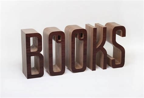 Word Shelf by A Wonderful Typographic Bookshelf That Spells Out The Word