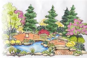 drawing garden