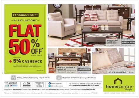 Home Design Outlet Center Discount Codes by Home Center Bangalore Sales Deals Discounts Offers 2018