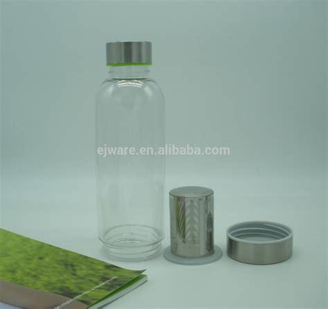 Teh Gelas Botol Per Karton bahan tritan plastik bening botol air dengan teh penyaring