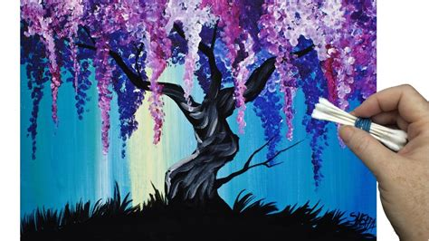 acrylic painting pdf wisteria willow tree q tip painting technique for