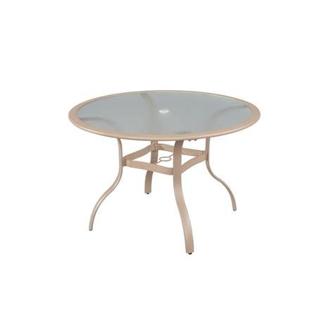 The Bay Dining Table Hton Bay Westin Commercial Contract Grade 44 In Commercial Patio Dining Table 151 007