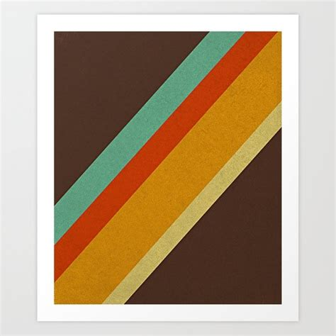 70s colors retro 70s color palette print by alisa galitsyna