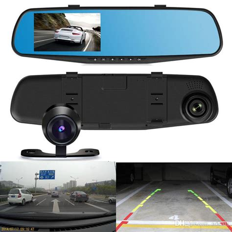 dash for car hd pz916 car dvr 4 3 inch car dash dual carema