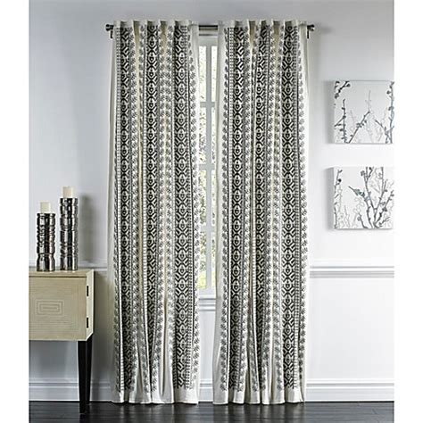 108 grey curtains buy callisto home meknes 108 inch back tab window curtain