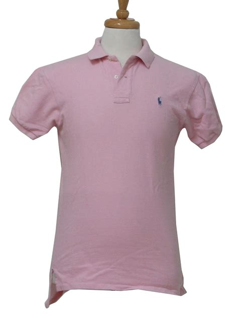 Sweater Unisex Polos Pink polo 80 s vintage shirt 80s polo unisex pink textured