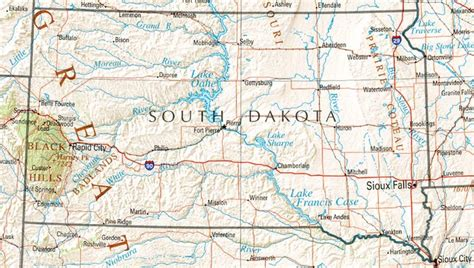 south dakota us map south dakota reference map