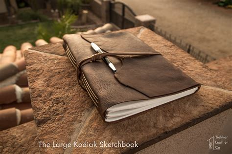 sketchbook leather large kodiak leather sketchbook trekker leather co