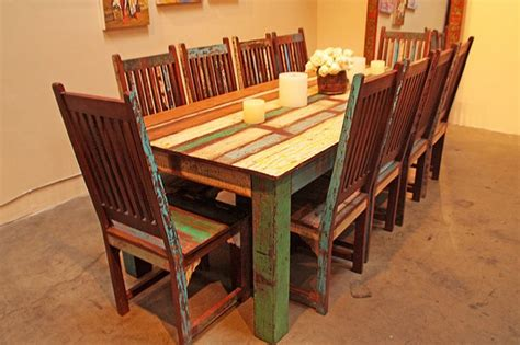 reclaimed wood dining room set reclaimed wood dining table designs recycled things