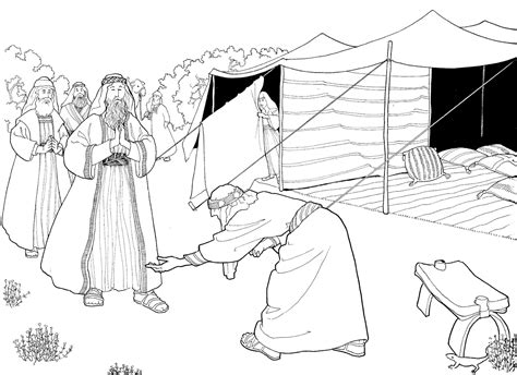 angels visit abraham coloring page abraham and the three heavenly visitors coloring