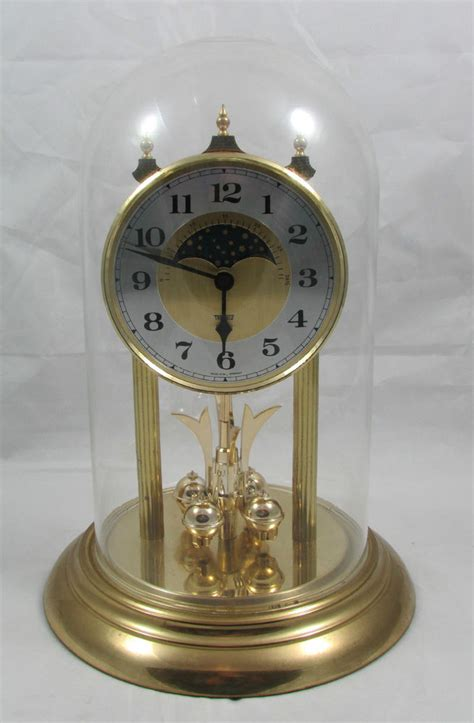 clock made of clocks trenkle quartz clock made in west germany glass dome 11 5