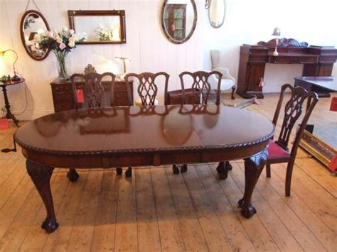 Chippendale Dining Room Chairs Edwardian Mahogany Dining Table In The Chippendale Style