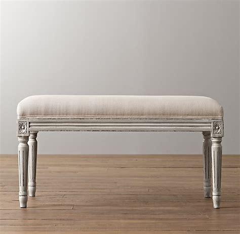 antoinette bench antoinette upholstered bench aged white