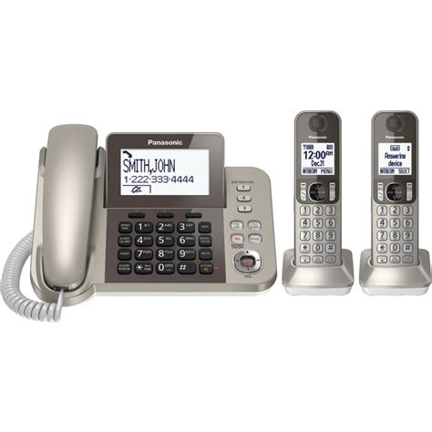 panasonic desk phone with 2 cordless handsets otz