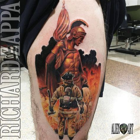 st florian tattoo florian and firefighter by zuludroog on