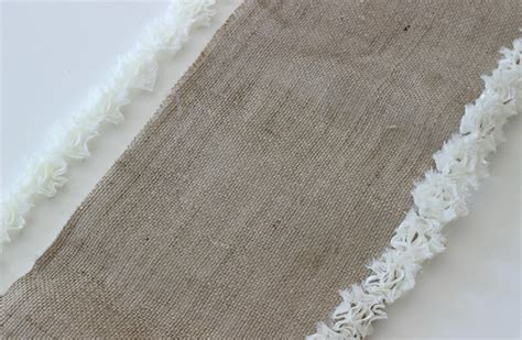 Diy Burlap Table Runner by No Sew Burlap Table Runner