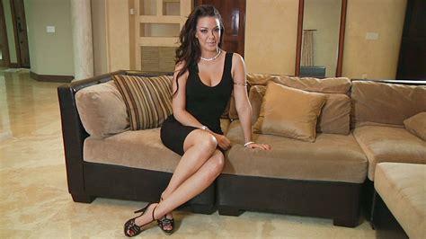 mature couch brunettes women high heels mature sofa black dress