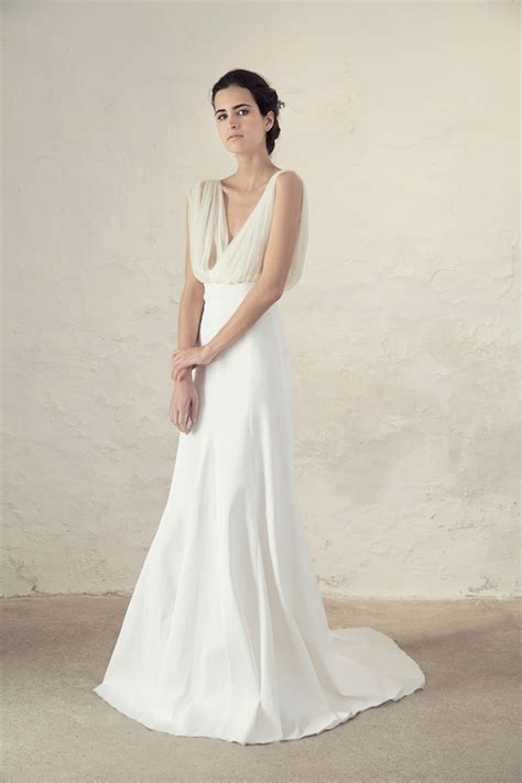 Plain White Wedding Dresses by Cortana Bridal Collection For Boho And Modern Brides