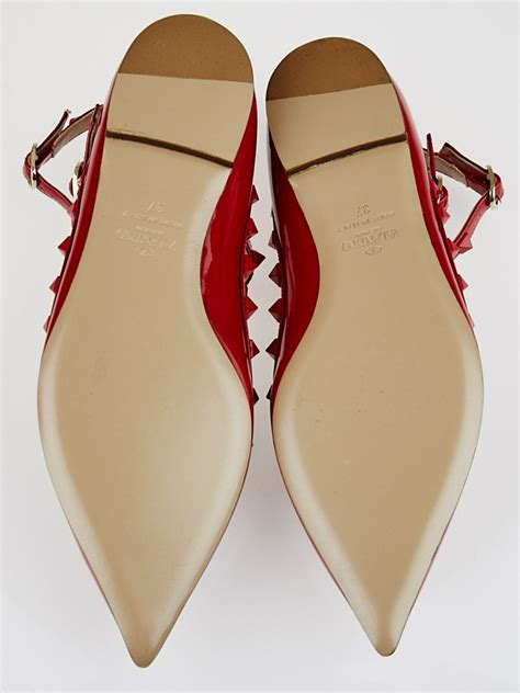 Valentino Shoes Set 3 In 1 valentino patent leather rockstud t flats size 6
