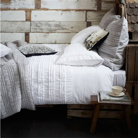 grey bed linens layering bedlinen