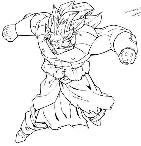 dragon ball z coloring pages of broly broly ss3 by moncho m89 on deviantart