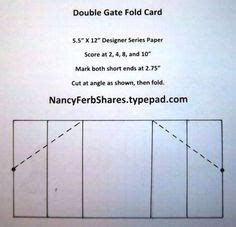 Free Gate Fold Card Template by 1000 Images About Card Folding On Easel Cards