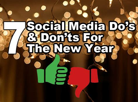 new year do s and don ts 7 social media do s don ts for the new year st paul
