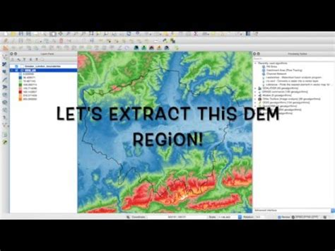 qgis dem tutorial qgis tutorial 1 generating watersheds from dem youtube