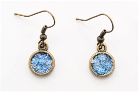 how to make druzy jewelry make a pair of sparkling glitter druzy earrings ehow