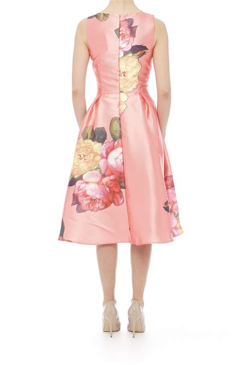 For Printed Satin by Moon Floral Printed Satin Dress From Manhattan By Dor L