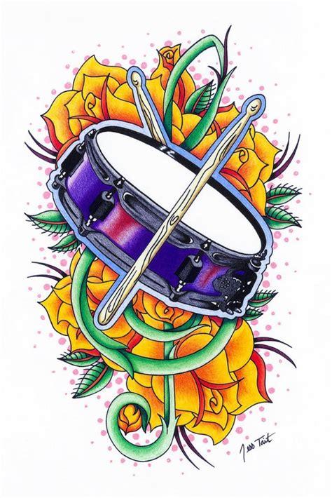 tattoo old school drum new school drum tattoo design best tattoo designs