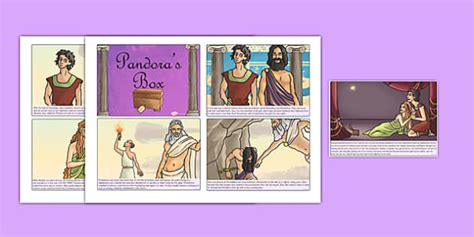 printable version of pandora s box pandoras box ancient greek myth story cards ancient greece