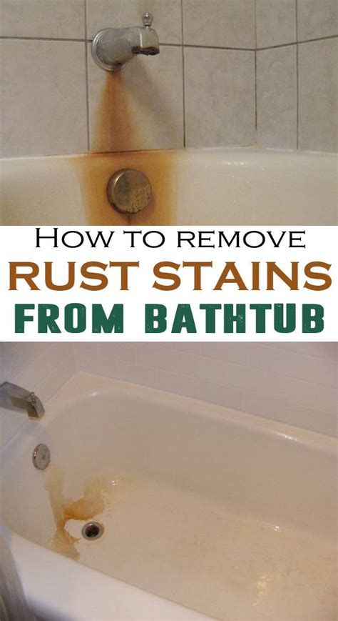 remove rust stains  bathtub cleaning tips tub cleaner remove rust stains