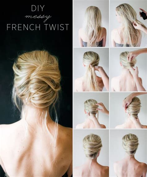 step by step twist hairstyles french twist in easy steps short hairstyle 2013