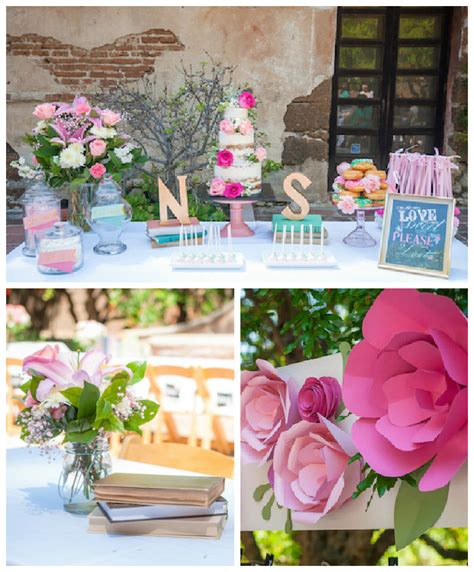 bridal shower themes pictures 2 kara s ideas shabby chic book themed bridal shower
