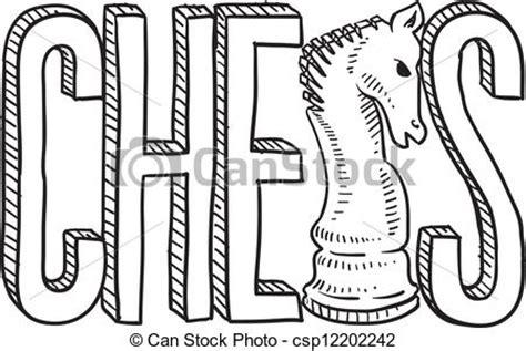 format graficzny eps rys szachy styl sketch doodle format ilustracja