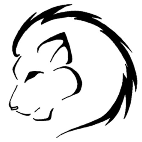 easy lion tattoo designs the gallery for gt simple lion head outline