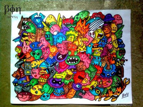 doodle monsters doodle wallpaper doodle monsters by bon09