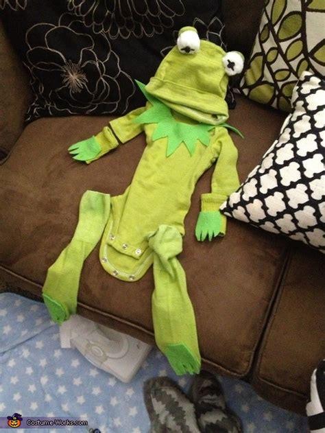 kermit  frog diy baby costume photo