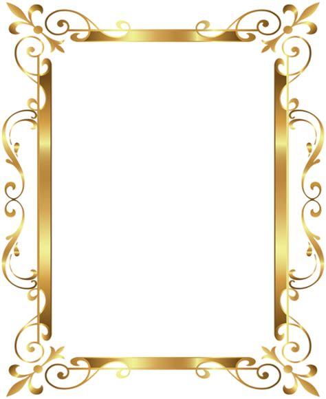 wedding border design gold gold border frame deco transparent clip image frames