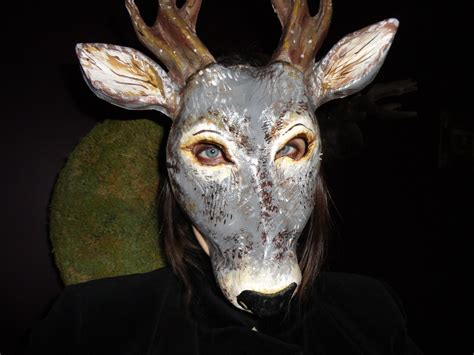 Masks With Paper Mache - masquerade mask paper mache papier mache deer by miesmesaberni