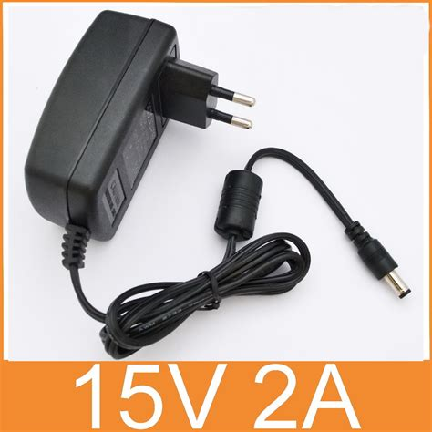 Adaptor 24vdc 1a 1pcs high quality 15v2a ac 100v 240v converter adapter dc 15v 2a 2000ma power supply eu 5